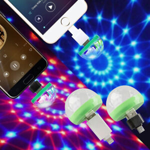 USB Mini RGB LED Disco Stage Light Party Club DJ KTV Ball Lamps for Android iOS