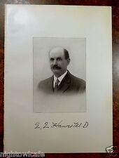 Antique Print 1912 DR.EDWARD EVERETT HAWES Hyannis, MA Massachusetts