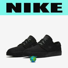 Nike Men's Size 10 Zoom Stefan Janoski Canvas Skate Shoes Triple Black 615957