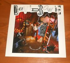 David Bowie Never Let Me Down Poster 2-Sided Flat Square 1987 Promo 12x12 RARE