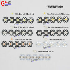 10pcs 3W Watt High Power LED SMD Chip Beads White Royal Blue Red RGB With PCB