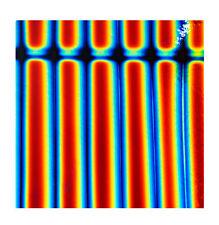 Dichroïque en verre 90 Coe rayures 2 cm sur Mince Noir CBS 5x10 cm