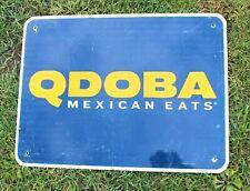 Authentic Retired Michigan Highway Road Sign - Qdoba Mexican Eats Restaurant