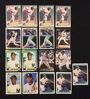 Bernie Williams Baseball Card Lot of 17 Rookie Bowman Topps Upper Deck Fleer