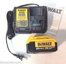 DeWalt DCB115 12V/20V MAX CHARGER & DCB204 20V MAX XR 4.0 Ah Li-Ion Battery NEW
