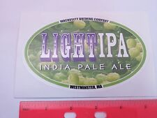 Cool Bier Aufkleber <> Wachusett Gär Co Licht Ipa ~ Westminster, Massachusetts