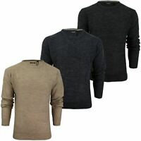 Mens Brave Soul Jumper - Wool Blend - Long Sleeved Crew Neck
