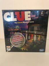 Hasbro Clue Classic Board Game Mansion Murder Mystery 2nd Crime Scene NIB Sealed