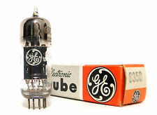 NOS 6350 Preamp Tube Horseshoe Getter GE USA Black Plate VTL Joule 1960s