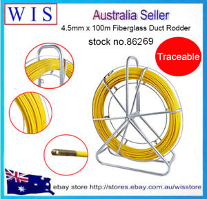 4.5mm 100m Traceable Cable Duct Rodder Snake Copper Trace Wire Telstra NBN Tools