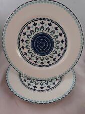More details for denby monsoon antalya tangier dessert plates x 2 22 cm fine china