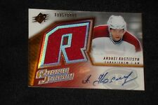 ANDREI KOSTITSYN 2005-06 SPX ROOKIE JERSEY GAME USED CERTIFIED AUTOGRAPHED CARD