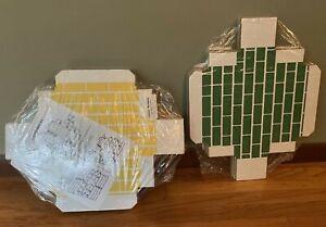 Lillian Vernon Corrugated Bricks Blocks Multi Color Cardboard 2 Packs Sealed NIP