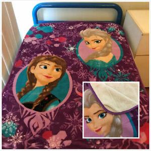 """Frozen Elsa Anne Sherpa All season Mink Faux Fur """"Throw"""" blanket Size110x 130cm"""