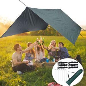 Multifunctional Lightweight Tent Tarp Outdoor Sun Shade Hiking Camping Shelter