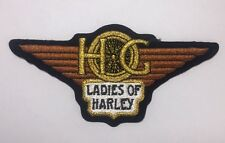 Harley Davidson Small Sz Clear Back HOG LADIES OF HARLEY PATCH NEW! NEVER USED!