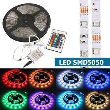 STRISCIA A LED RGB MULTICOLOR 300LED SMD5050 COLORATA BOBINA 5MT 12V CENTRALINA