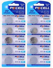 ☀️☀️☀️☀️☀️ 10 x CR2025 3V Lithium Batterie 150 mAh 2 Cards a 5 Batterien PK