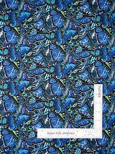 Butterfly Butterflies Wings Allover Cotton Fabric Elizabeths Studio #446 - Yard