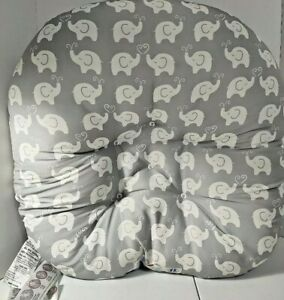 Boppy Newborn Lounger Gray With Elephants Unisex