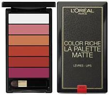 la palette color riche l'Oréal rouge mat