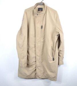Tumi Outerwear Mens Size Large Outdoor Full Zip Rain Parka Jacket Khaki Brown