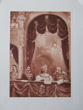 Galavorstellung in der Oper in Budapest, Franz Joseph I - Heliogravur aus 1908