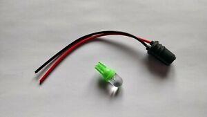 Tuner /Mod /Dashboard Light + Bulb Holder  24 volt Green LED - 12mm hole - Slim