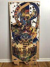Stern Iron Maiden Pinball Machine New Playfield. Retro Wooden Art, Metal Band