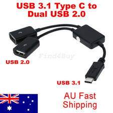 USB 3.1 Type C to Dual USB 2.0 Port Hub Adapter Converter for Macbook PC Tablet