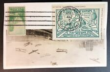 Numerous Early Aircraft in Chicago Sky American Air Mail Society 1934 Conv Rppc