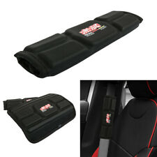 Jdm Mugen Black Leather Memory foam Car Seat Belt Covers Shoulder Pads Cushion