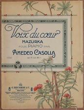 VOIX DU COEUR AMEDEO CASOLLA MUSICA SPARTITI PIANOFORTE PIANO MAZURKA AUTOGRAFO