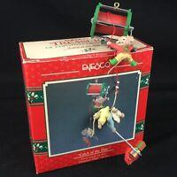 VTG Enesco Treasury of Christmas Ornament Catch of Day Dearest Dad Series 1990