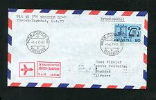 Swissair Nonstop Zurigo-Baghdad 2.4.77 con dc-8 (fp-34)