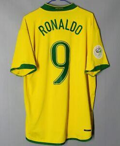 BRAZIL NATIONAL TEAM HOME 2006/2008 FOOTBALL SHIRT JERSEY CAMISETA #9 RONALDO