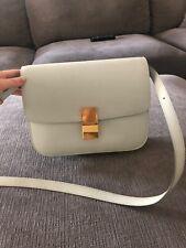 Authentic Celine medium classic bag in box calfskin light green color