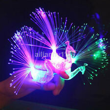 10x Finger Light Up Ring Laser LED Party Rave Favors Glow Beams Peacock Toys AU