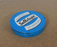 Vintage large 72 yd sellotape tin Borehamwood Herts 12cm diameter.   lft