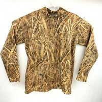 Avery Mens Kw-1 Kill Weed Cornfield Camo Mock Neck Compression shirt Size Large
