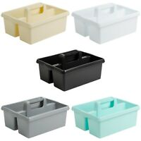 Large Plastic Kitchen Cleaning Carry Tray Caddy Tidy Tote Organiser with Handle