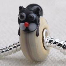 1pcs MURANO GLASS BEAD LAMPWORK Fit European Charm Bracelet DW-076 lovely Animal