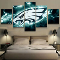 Philadelphia Eagles Football 5 pcs Painting Printed Canvas Wall Art Home Decor