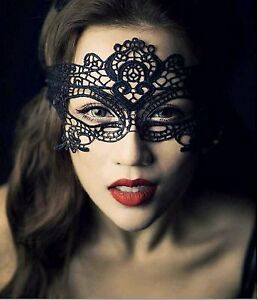 Womens Halloween Masquerade Mask Black Venetian Party Lace Fifty Shades of Grey