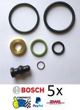 5x Genuine Bosch Injector Seals Kit VW Audi Seat Skoda 1417010997 038198051B