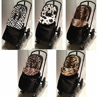 ANIMAL PRINT PADDED FOOTMUFF COMPATIBLE WITH UPPABABY .VISTA/CRUZ/G-LUXE