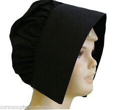 GIRLS BLACK TUDOR MEDIEVAL VICTORIAN COIF/HAT