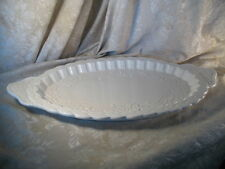 Große Keramik weiß Serving Platte Tray von Amora Italien