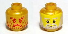LEGO - Minifig, Head Dual Sided Bearded / Realistic (Poseidon) - Pearl Gold