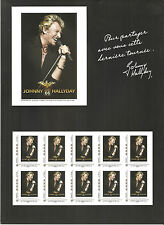FRANCE 2009...COLLECTOR OF 10 STAMPS MNH **  JOHNNY HOLLYDAY